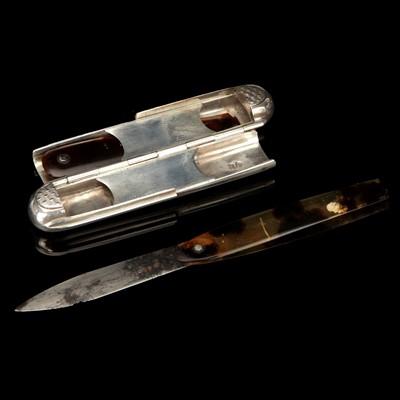 Lot 2-A Folding Silver Lancet Case