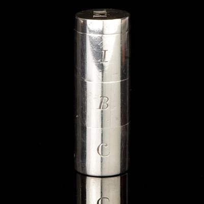 Lot 23-Irish Silver three Compartment Pillbox