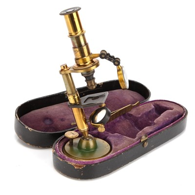 Lot 9-A French Cased Microscope