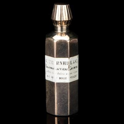 Lot 3-A Silver Medicine Bottle