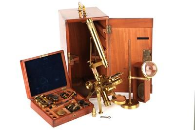 Lot 16 - A Powell & Lealand No.3 Microscope