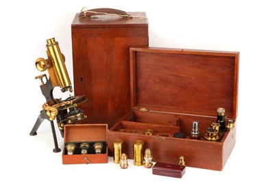 Lot 22 - A Watson Edinburgh Microscope