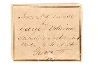 Lot 23 - George Adams Senior Trade Label & Documents