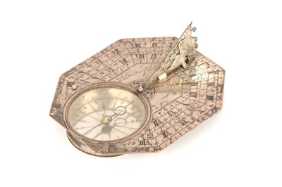 Lot 39-A Rare Five-scale Silver Pocket Sundial by Michael Butterfield