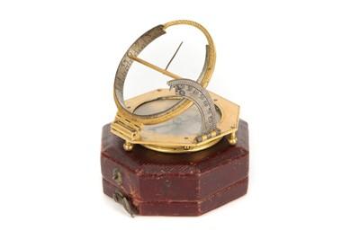 Lot 41 - A Gilt Brass & Silver Equinoctial Dial by Johann Willebrand