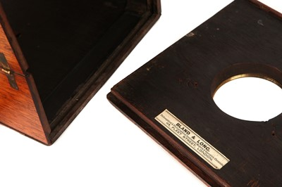"""Lot 1310 - A Bland & Long Collapsible 6x6"""" Wet Plate Mahoagny Camera"""