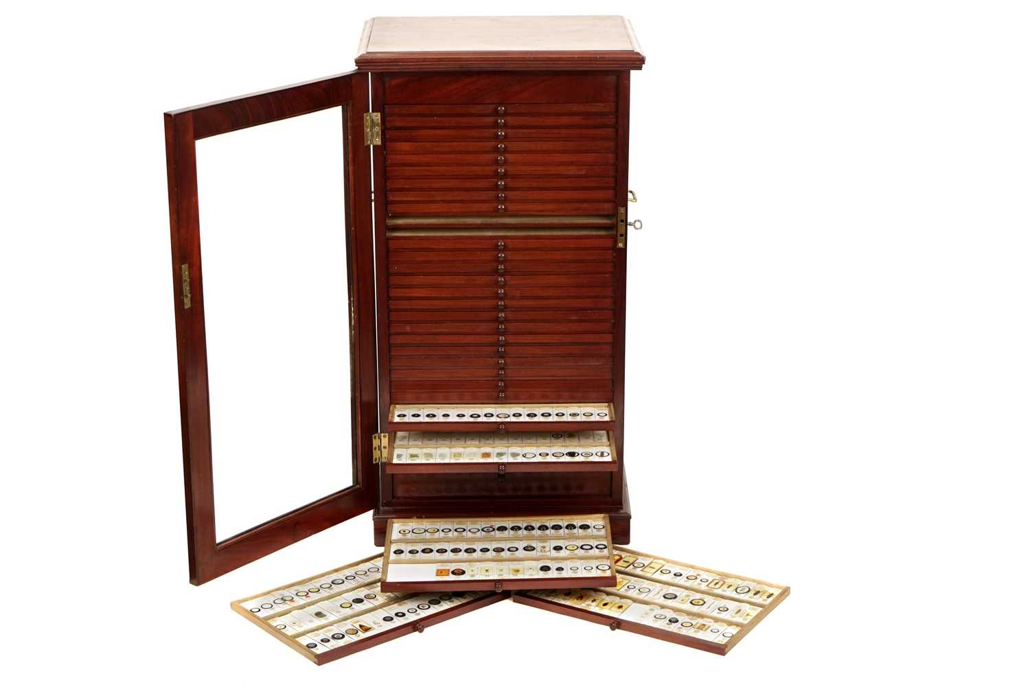Lot 1-An Exceptionally Large Cabinet of Microscope Slides