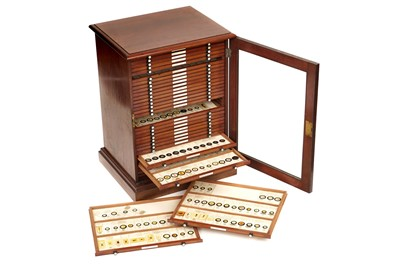 Lot 2-A Large Cabinet of Microscope Slides