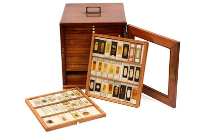 Lot 3-A Large Cabinet of Microscope Slides
