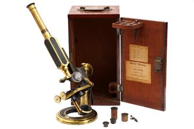 Lot 36 - An R & J Beck 'Universal' Brass Compound Microscope
