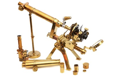 "Lot 1-An Exceptionally Fine Powell & Lealand ""No. 1"" Compound Monocular/Binocular Microscope Outfit"