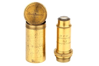 Lot 30-A Large Powell & Lealand 1 1/2 inch objective