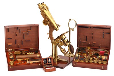 Lot 4-A Fine Binocular 'Large Best', or 'N°1 Stand' Microscope Outfit