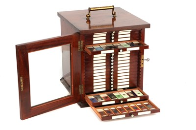 Lot 41-Large Cabinet of Microscope slides