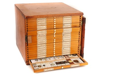 Lot 42-A Large Cabinet of Microscope Slides