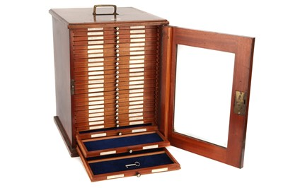 Lot 48-A Large Microscope Slide Cabinet by J. B. Dancer