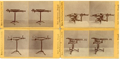 Lot 265 - CARL GUNTHER (1827-1912) Nine Stereoviews of Scientific Instruments