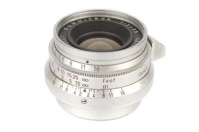Lot 27 - A Leitz Summicron f/2 35mm Lens