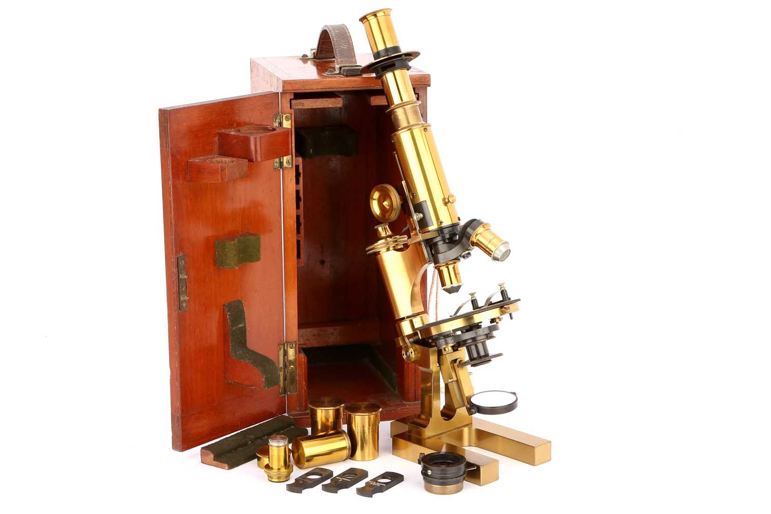 Lot 11-A Fine Petrological Microscope By Ross