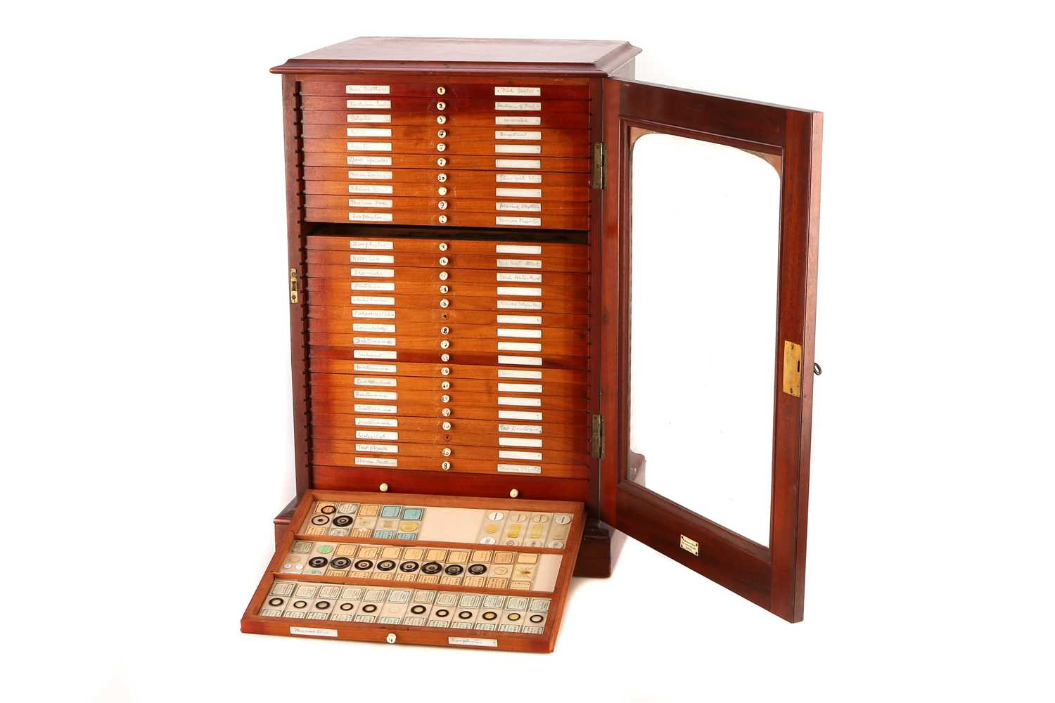 Lot 19-A Large Cabinet of Microscope Slides