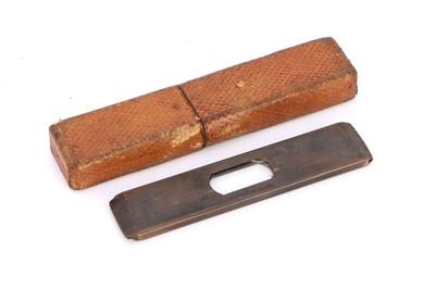 Lot 26-An Unusual Cased Micrometer Slide