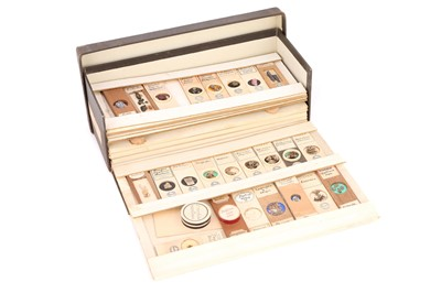 Lot 27-A Very Fine Collection of Dry Mounted Marine, Fossil, Crystal & Geological Microscope Specimen Slides