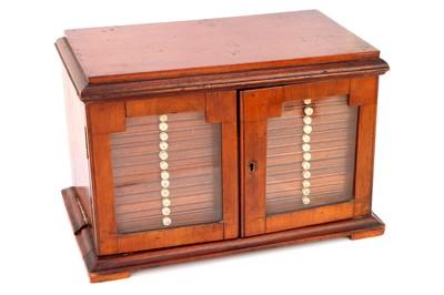 Lot 33-A Victorian Microscope Slide Cabinet