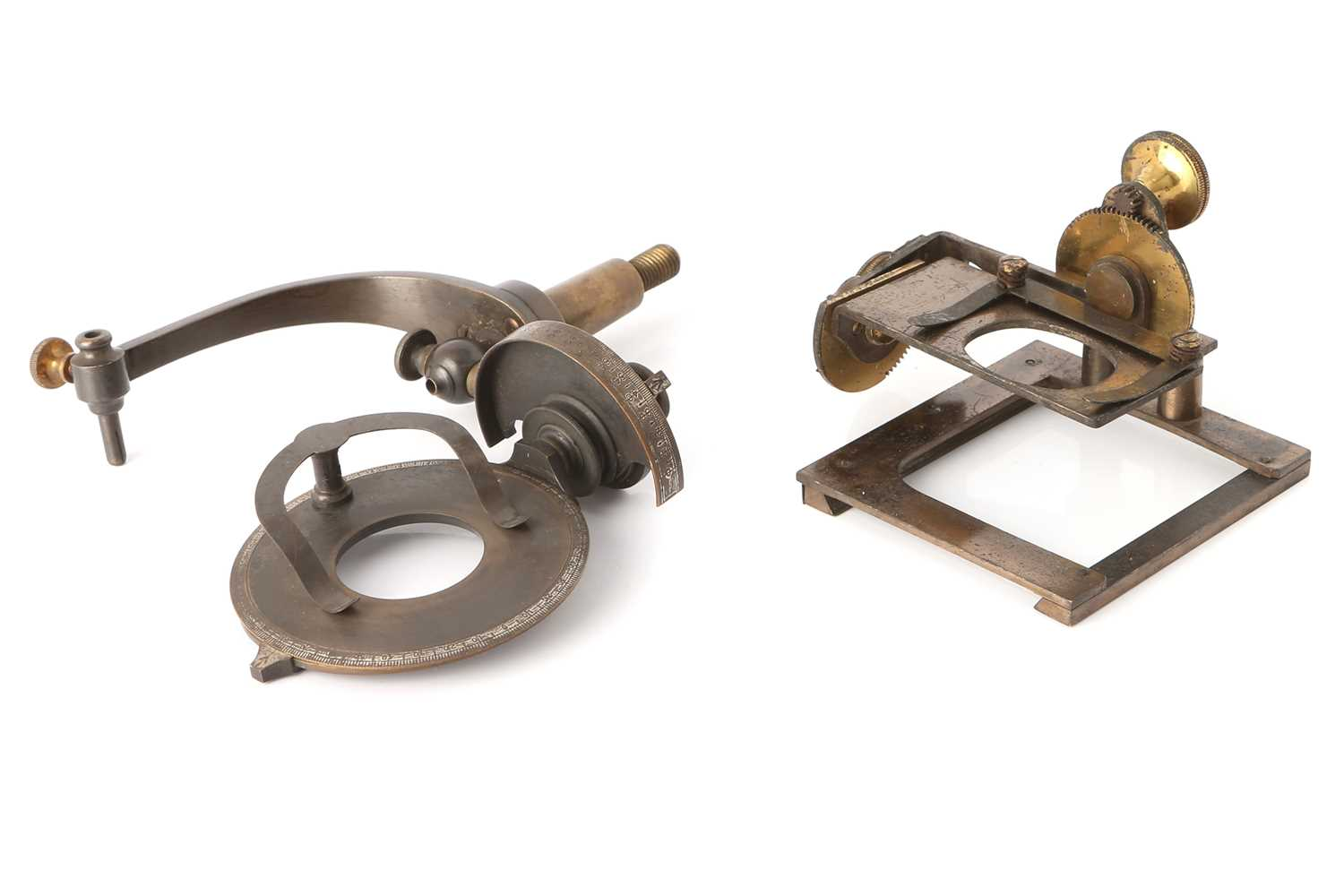 Lot 36-A Victorian Microscope Stage Goniometer & Another