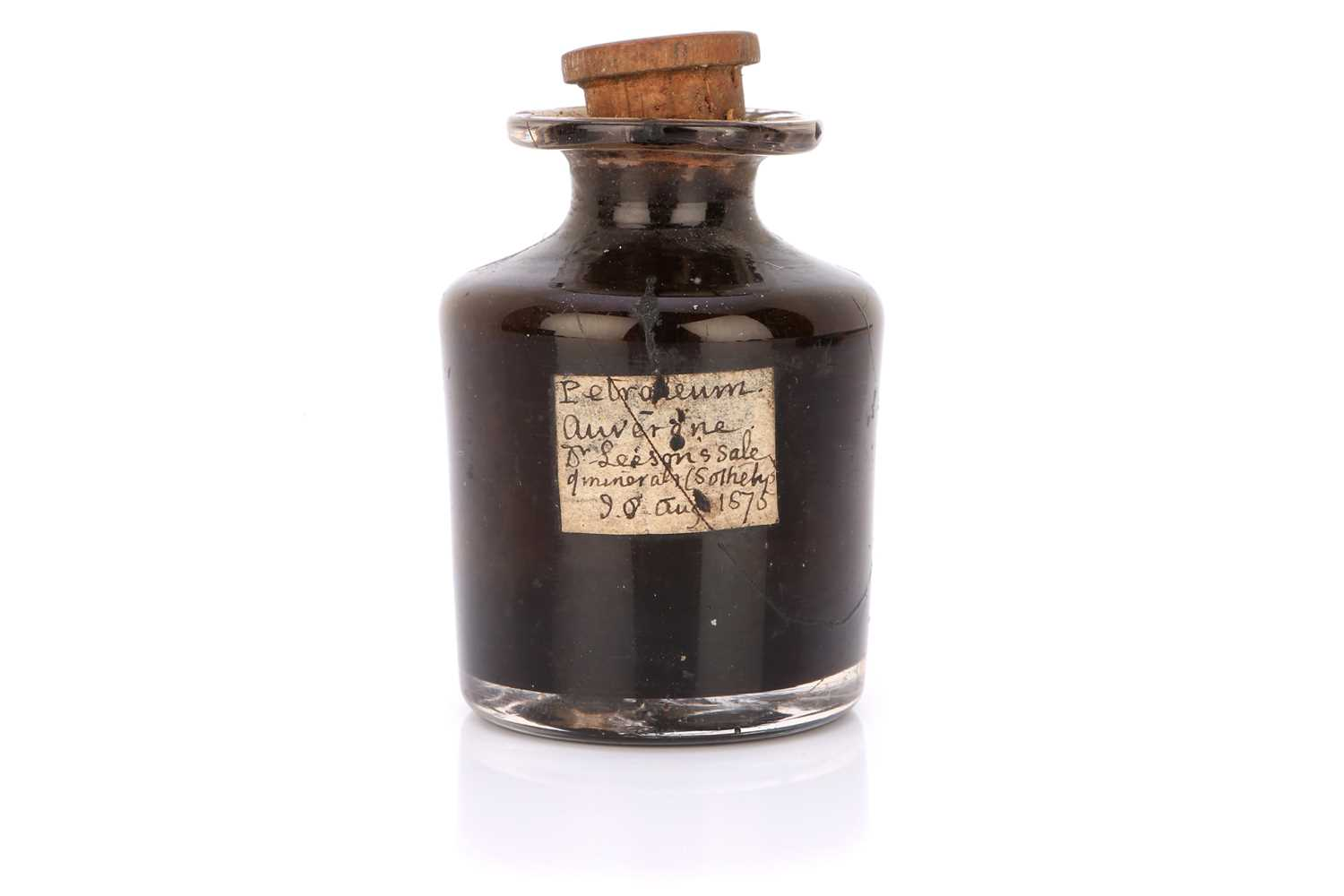 Lot 42-An Unusual Bottle of Petroleum from an 1875 Sotheby's Sale