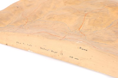 Lot 43-A Polychrome-Painted Plaster Didactic Geological Model