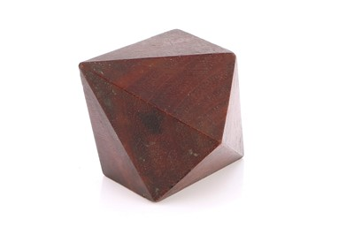 Lot 44-A Large Wooden Double six Sided Pyramid Crystal Model