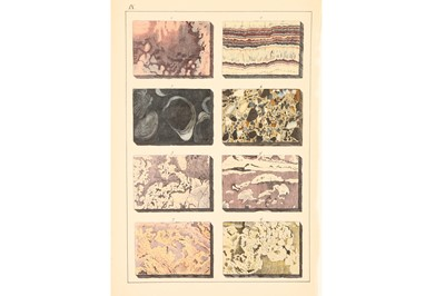 Lot 45-A Collection of Mounted Mineral & Crystalography Book Plates