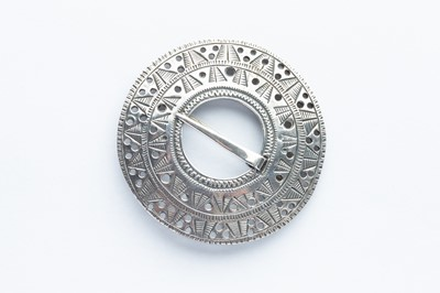 Lot 36 - A David Andersen Silver Aztec Style Brooch