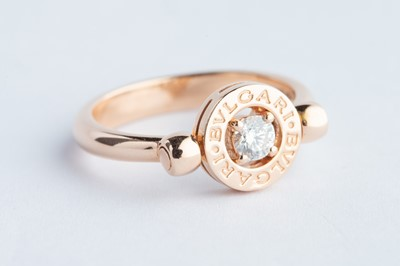 Lot 39 - A 18ct Rose Gold Bvlgari Diamond Ring