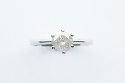 Lot 50 - A 18ct White Gold Diamond Solitair Ring