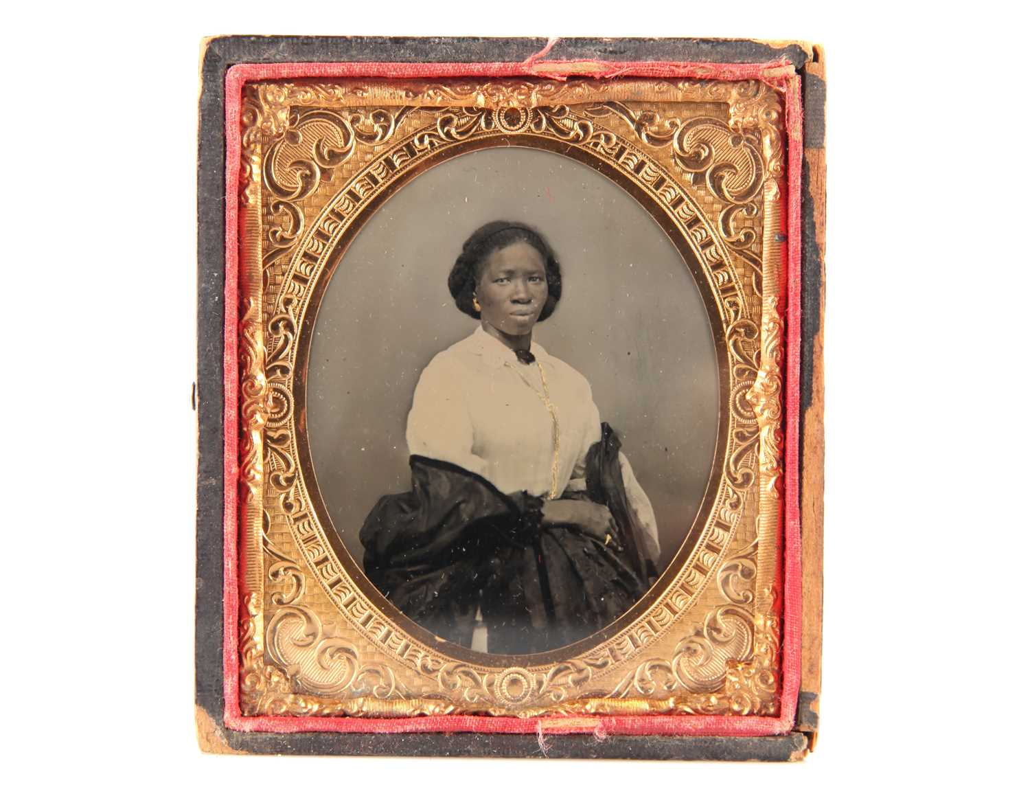 Lot 9 - An Ambrotype of an African-American Woman