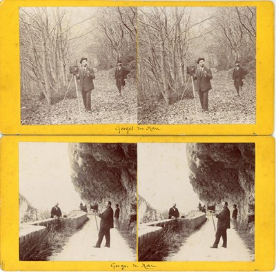Lot 7 - Two Stereoviews of Photographers