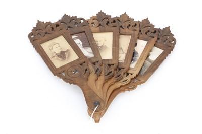 Lot 5 - A Rare Fan-type Carte de Visite Frame