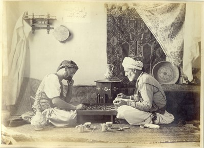 Lot 4 - A 19th Century Print of Chess Players