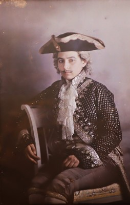Lot 41 - A Large Autochrome of a Young Woman Dressed as a Man