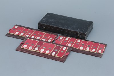Lot 8 - Early Leather Case of Microscope Slides