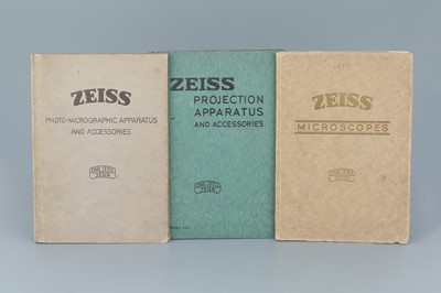 Lot 12 - Collection of Zeiss Microscope Catalogues