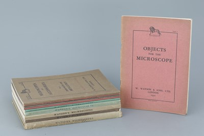 Lot 13 - Watson & Sons Microscope Catalogues