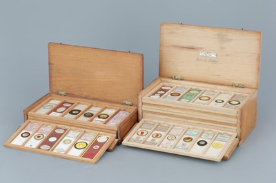 Lot 16 - Two Cases of Microscope Slides