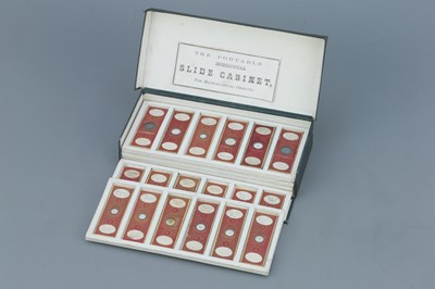 Lot 17 - Set of 36 Cased C. M. Topping Microscope Slides