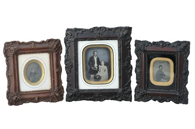 Lot 23 - A collection of Three Framed Ambrotype Portraits