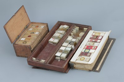 Lot 37 - two microscope slide boxes