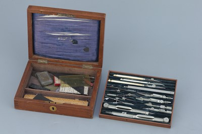 Lot 49 - German Silver Drawing Instruments By Stanley