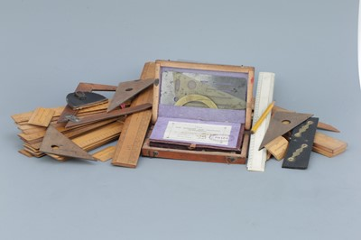 Lot 47 - Collection of Boxwood Rules, Scales & Drawing Instruments