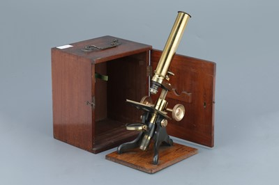 Lot 40 - Society Of The Arts Brass Monocular Microscope